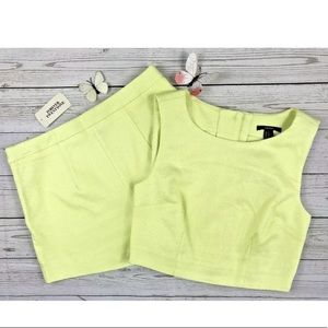 Forever 21 Lime Green 2 Piece Set Sz S/M